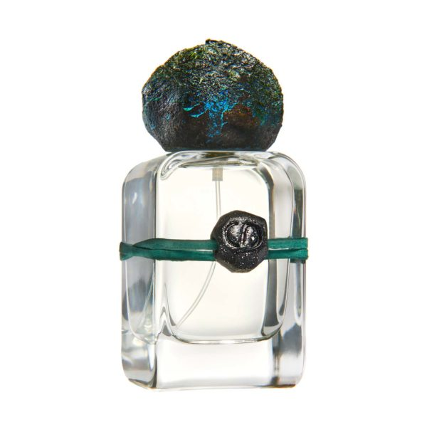 Sirio Extrait de Parfum flacon in glass bottle and hand sculpted cap and charm
