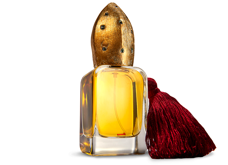 Osang Super Extrait de Parfum flacon in glass bottle and hand sculpted cap and charm
