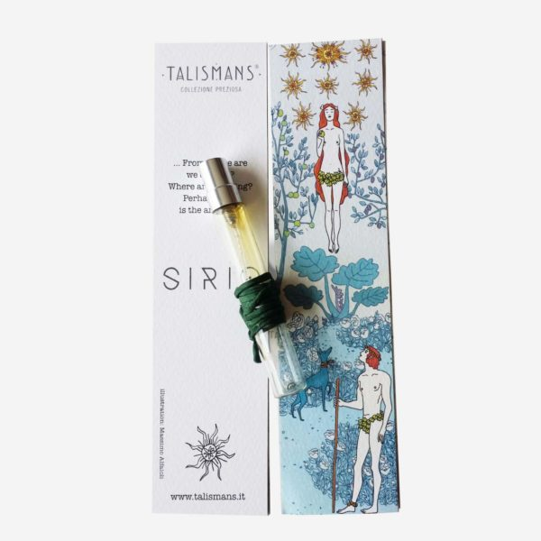 Sirio 7,5 vial and Sirio illustrated bookmark