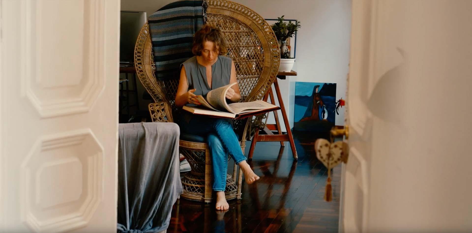 Stefania Squeglia in the Atelier